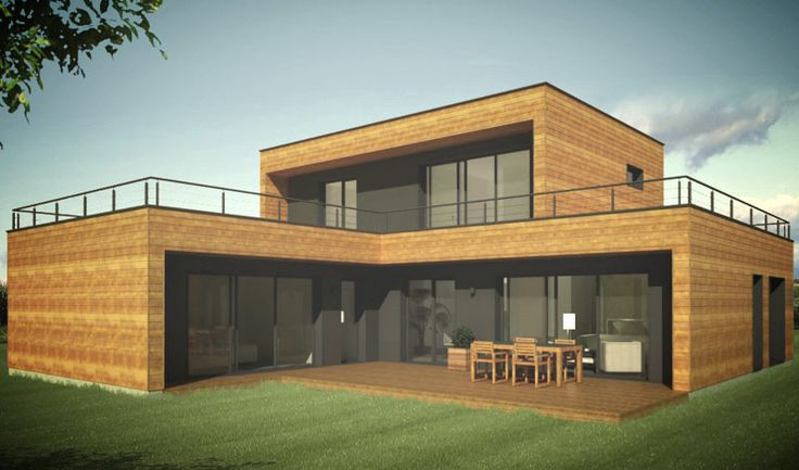 booa constructeur maisons ossature bois design à prix direct fabricant   maison ossature bois 6 pieces noov6   COLLECTION MAISONS Élément