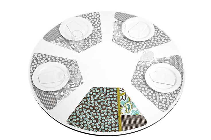 17 best images about placemats for round table on for Small square placemats