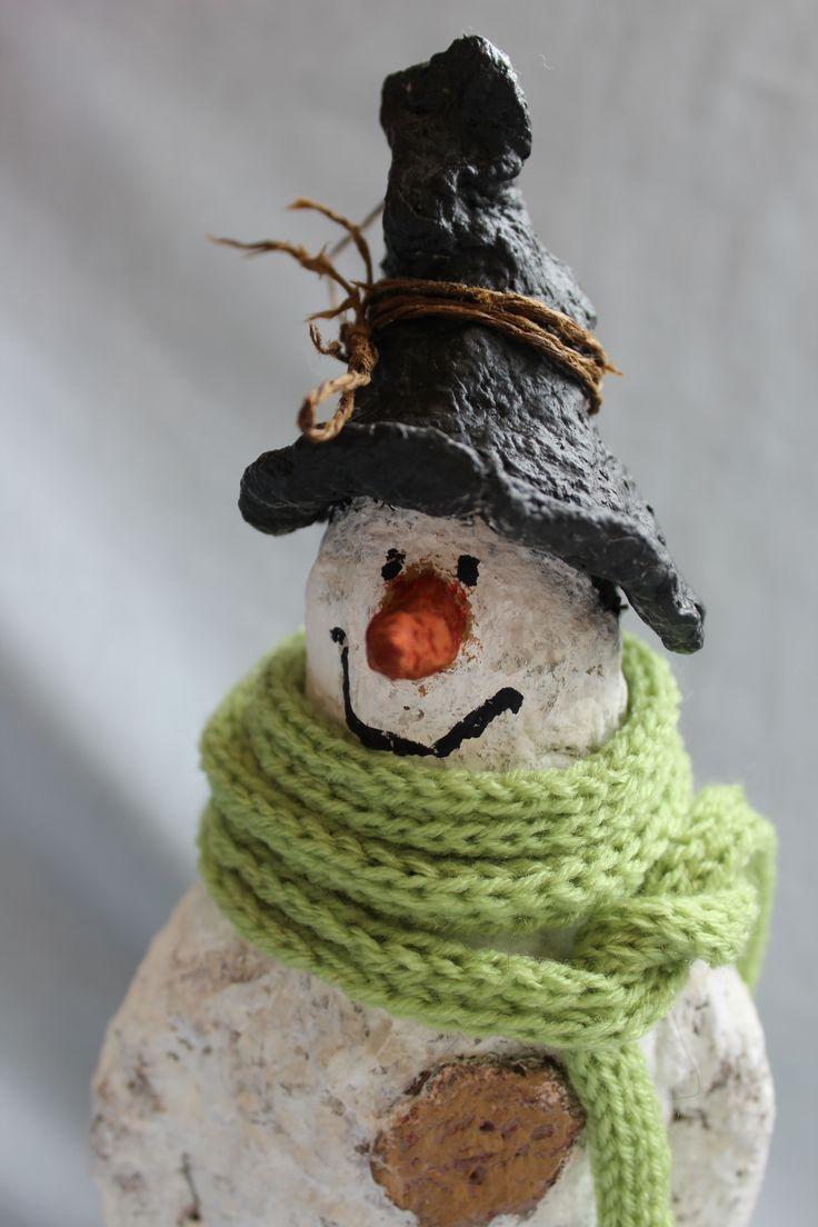 Снеговик из папье - маше