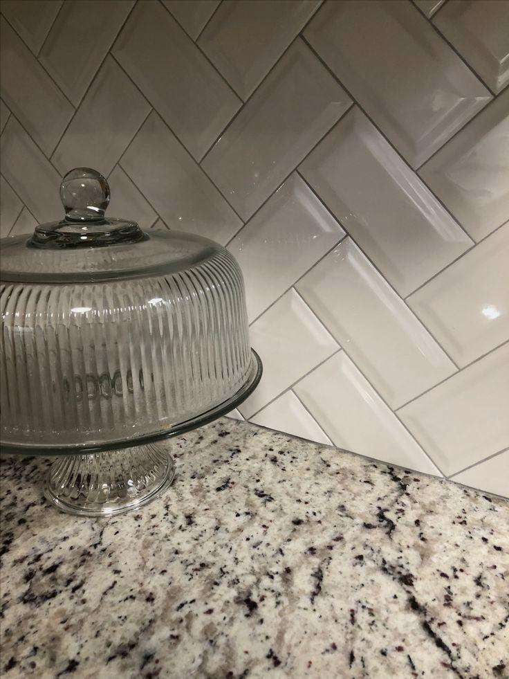 White & Gray Kitchen Makeover granite countertop a…