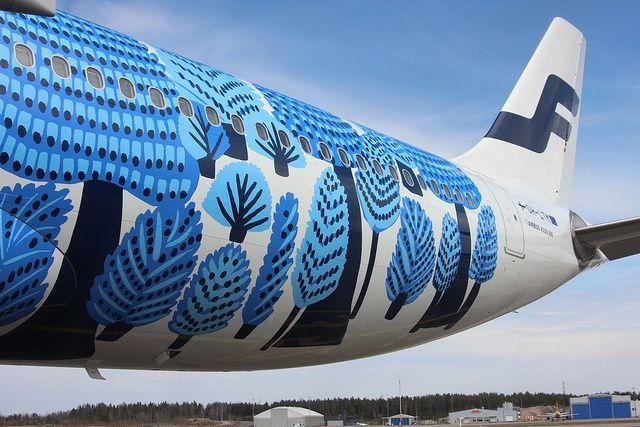 Finnair A330 Marimekko