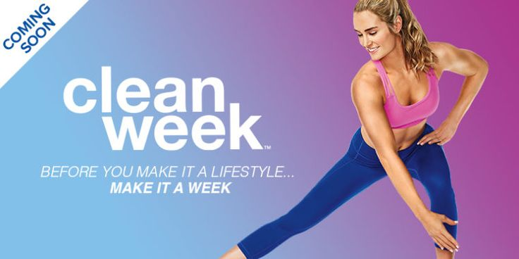 Clean week start a healthy lifestyle in 7 days workout
