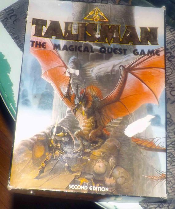 Vintage c.1985 and RARE Talisman The Magical Quest Game 2nd