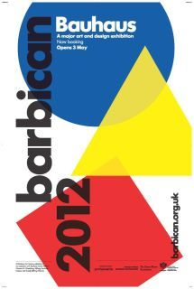 We are so excited that the biggest Bauhaus exhibition in the UK in over 80 years is coming to town! From 3 May 2012- 12 August 2012 at the Barbican Art Gallery