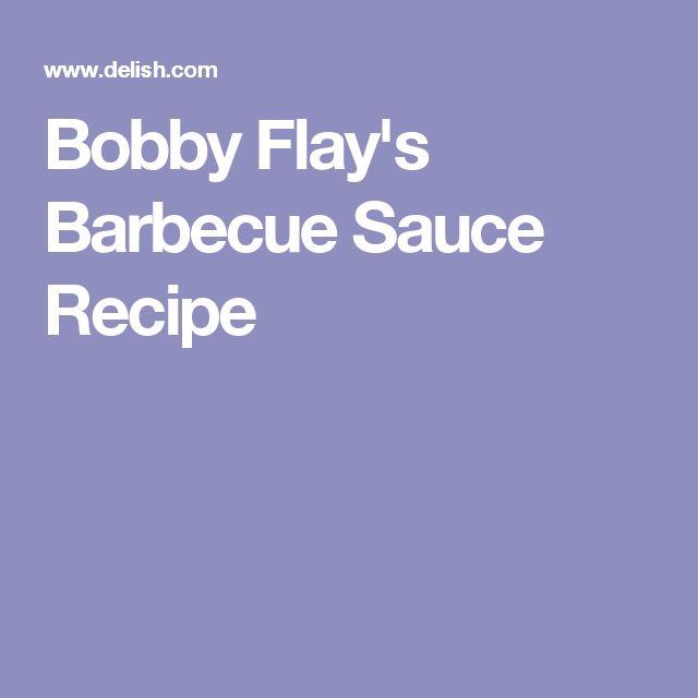 Bobby Flay's Barbecue Sauce Recipe