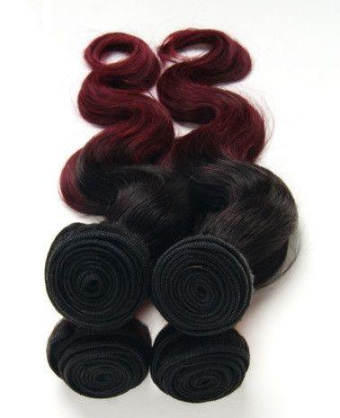 Brazilian Ombre Body Wave Hair Weft 99J - TheFvblane.com - 1