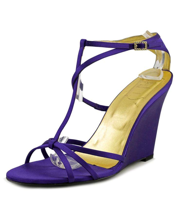 ROGER VIVIER | Roger Vivier Elsa Women  Open Toe Leather Purple Sandals #Shoes #Sandals #ROGER VIVIER