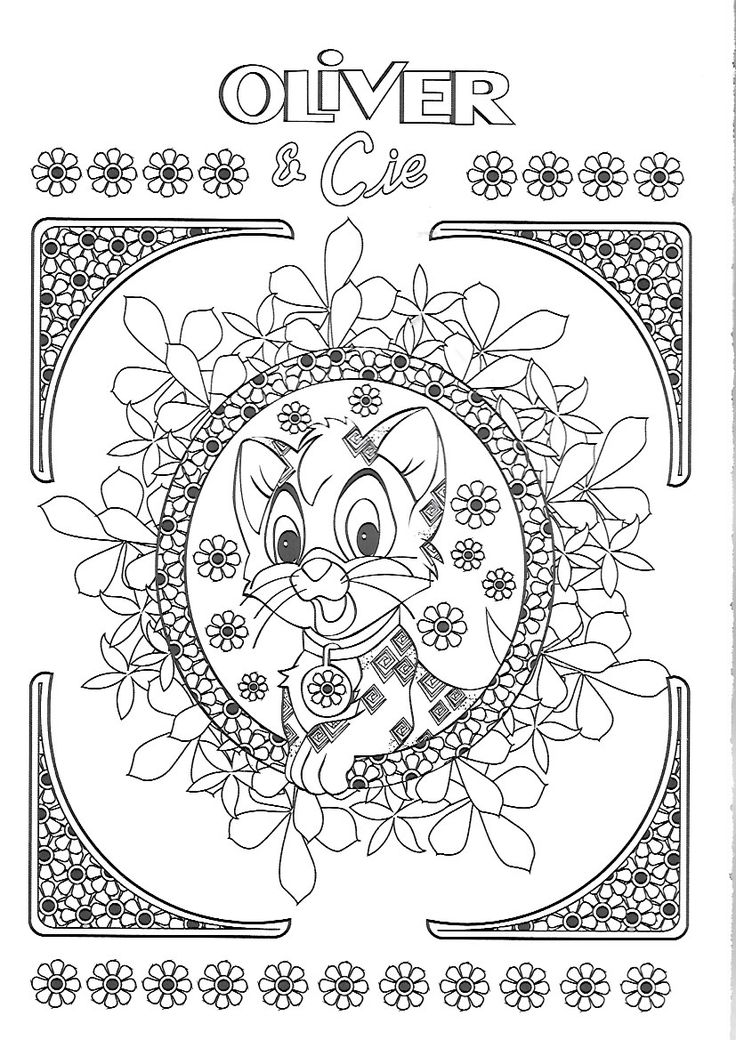31 best coloriage oliver et compagnie images on Pinterest | Art drawings