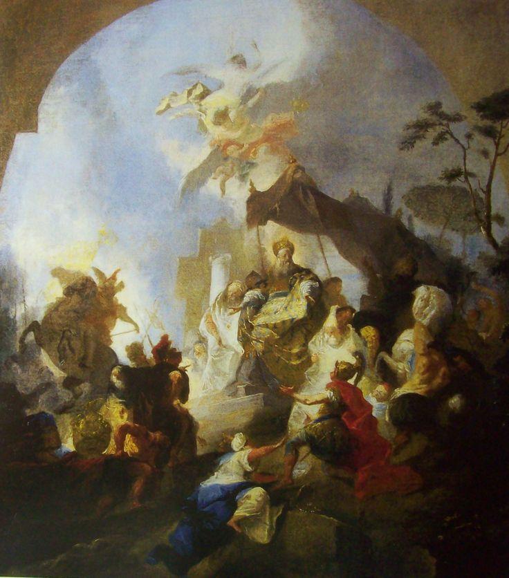 Josef Winterhalder ml. Alexandr Veliký před Jeruzalémem 1784 Praha, Národní galerie