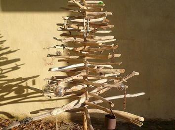fabrication arbre de noel déco recupération