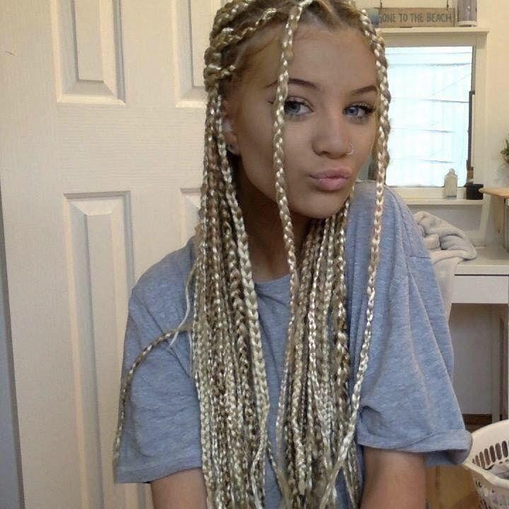 #box #braids #blonde #teen