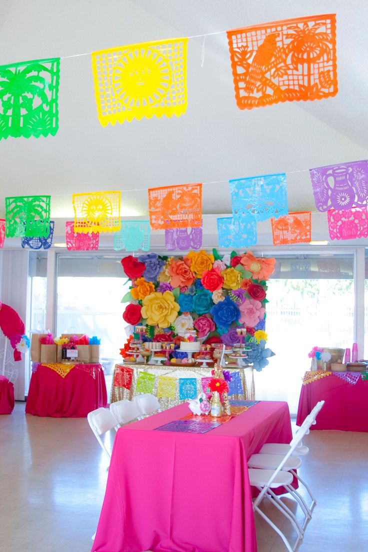 Colorful Mexican Themed Baby Shower with Lots of Really Fun Ideas via  Kara's Party Ideas! Full of decorating tips, desserts, cupcakes, cakes.