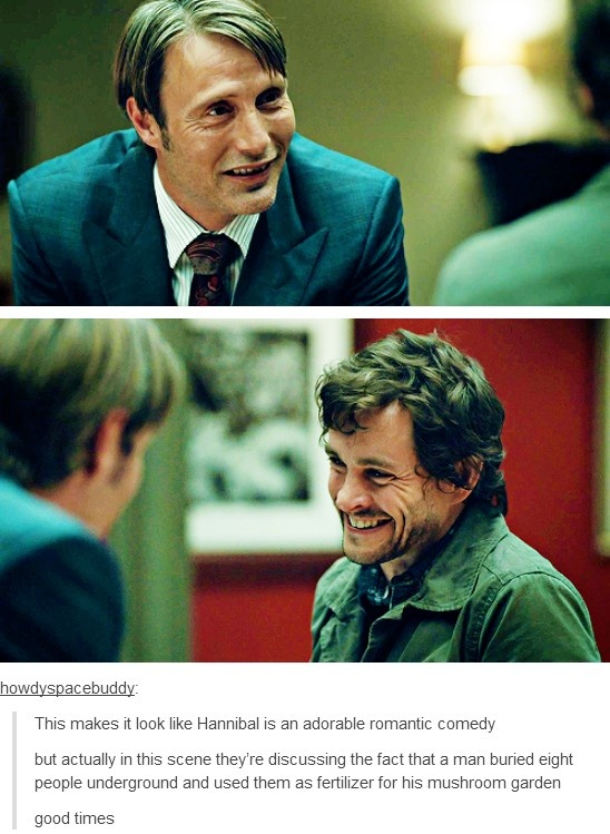 Hannibal is really a much darker show that the screen caps let on.