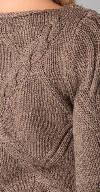 Красивые рельефные джемперы спицами - САМОБРАНОЧКА  рукодельницам, мастерицам