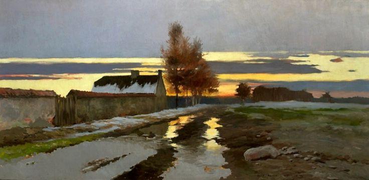 Józef Rapacki (1871–1929) A daybreak (Landscape - Thaw). wikidata:Q24090334 Date1897