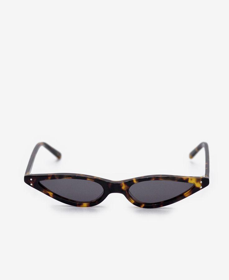 George Keburia Tortoise Cat Eye Sunglasses