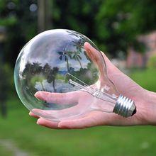 Бесплатная доставка Винт монтажа накаливания 40w лампы E27 многоцветные желтые большие круглые лампочки лампы персонализированные(China (Mainland))