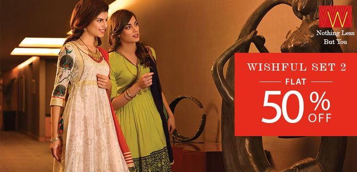 Look #glamorous this #season with #W end of season sale. Explore more here : www.shopforw.com
