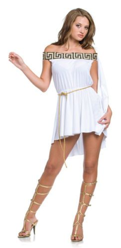 Sexy Greek Goddess Toga Outfit Adult Halloween Costume | eBay