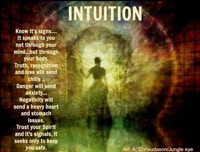 Truly opening to...and listening from the soul to spirit whispers from the Divines comes through intuition and felt sense in my spiritual life.