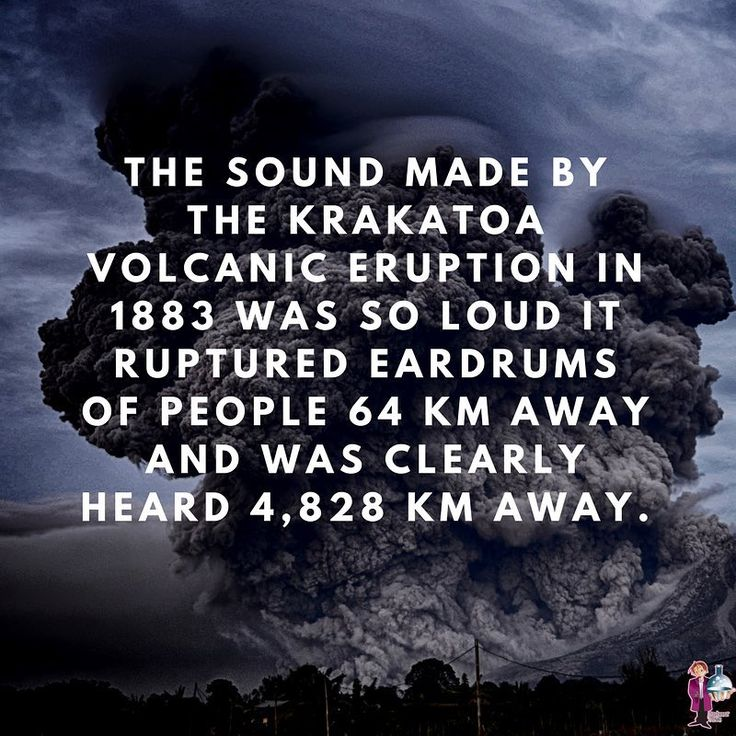 That's like you standing in New York and hearing a sound from San Francisco!  ⠀  Krakatoa's eruption was so catastrophic that it caused global temperatures to drop by 1.2 degrees C and affected the skies as far away as Europe and North America for a few years.⠀  .⠀  .⠀  .⠀  .⠀  .⠀  .⠀  #science #volcano # science #chemistry #cool #coolfact #weirdfact #space #weather #geeky #instagood #me⠀  #tbt #cute #follow #followme #photooftheday #happy #tagforlikes #beautiful