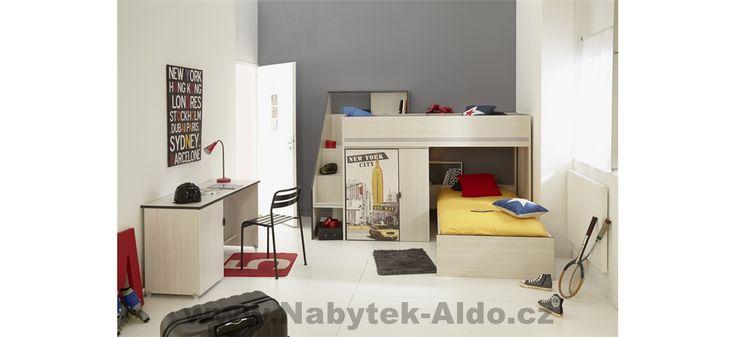 Moderní patrová postel pro dvě děti