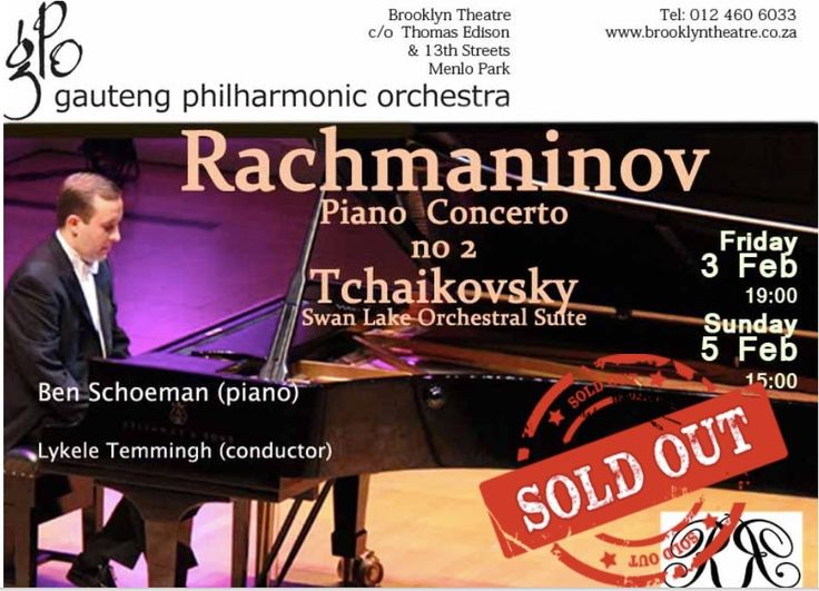 Sunday 5 Feb 15:00 GPO concert is SOLD OUT. Limited seats available for Friday 3 Feb 19:00  Pretoria, South Africa Beeld.com AJ Opperman Rekord Classic FM