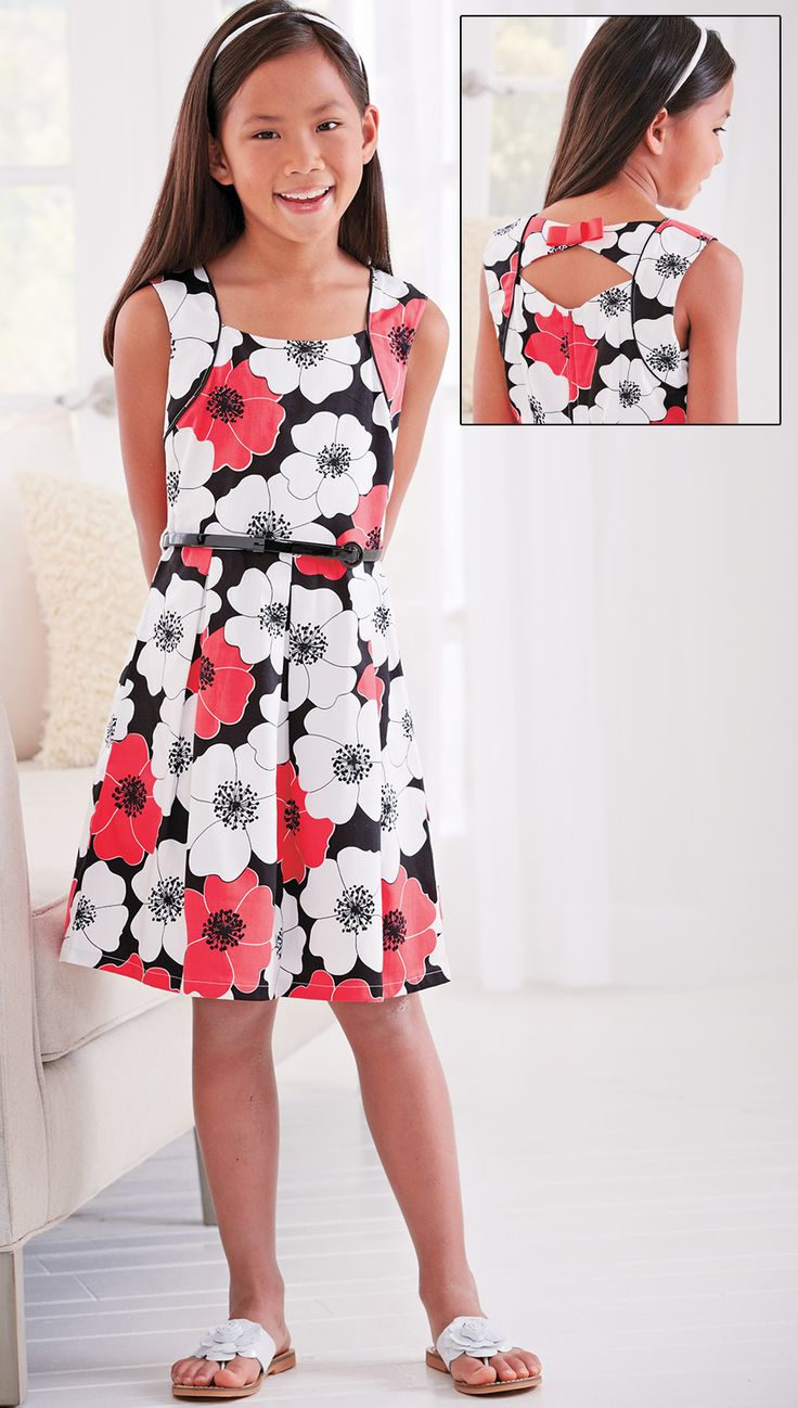 From CWDkids: Belted Floral Dress.  E likes.