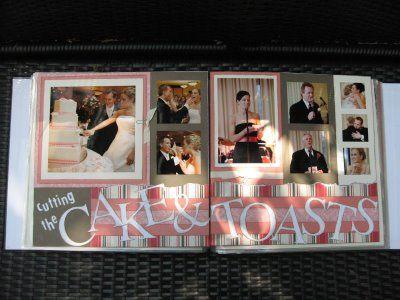 CTMH Wedding Scrapbook Layout | fancyMelissa