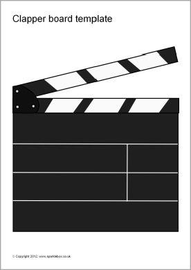 Editable clapper board templateSparkleBox