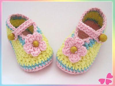 57 best Babyschuhe häkeln images on Pinterest   Diy anleitungen ...