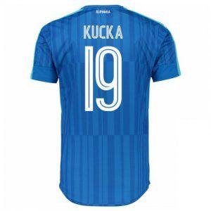 Slovakia National Team 2016 Away Jersey Blue Soccer Shirt #19 Kucka [E352]