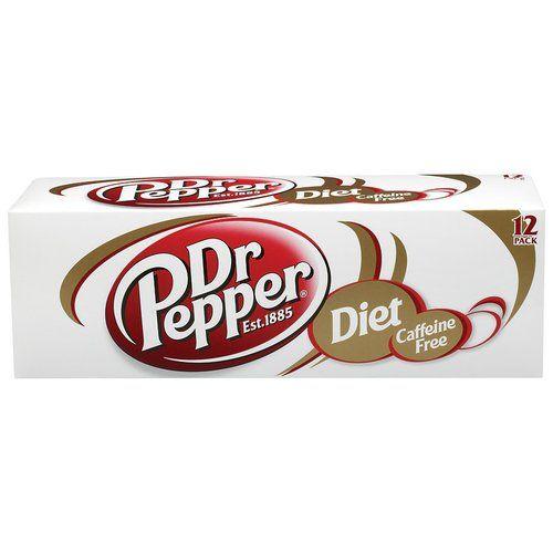 Diet Caffeine Free Dr Pepper Soda Cool Pack, 12 oz, 12pk (00078000085167) Diet Caffeine Free Dr Pepper Soda: Est. 1885 Zero calories per serving