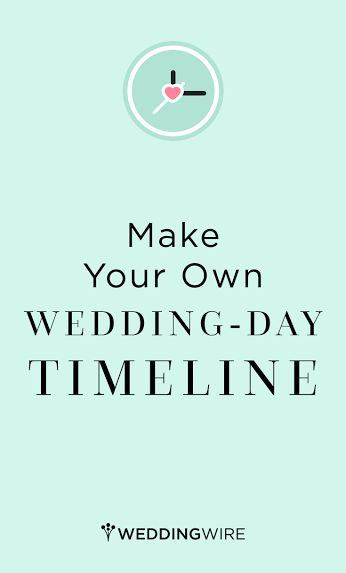 Don't miss a beat on your wedding day by using our custom timeline generator! Sign up to create yours