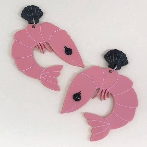 Peppy Chapette Perky Prawn Pam Earrings (Pink)