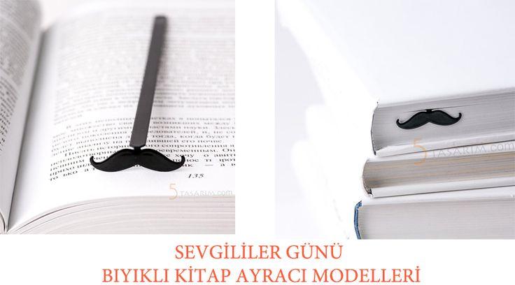 sevgililer günü bıyıklı kitap ayracı modelleri