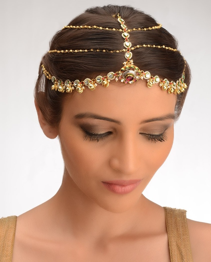 Maharani Maang Tikka By Bansri Joaillerie Hair Jewelery Find This Pin And More On Indian Bridal Jewelry