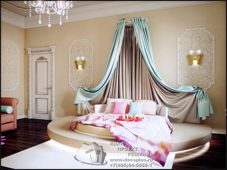 Дизайн детской комнаты для девочки с элементами классицизма - http://www.decoplus.ru/design_detskoy