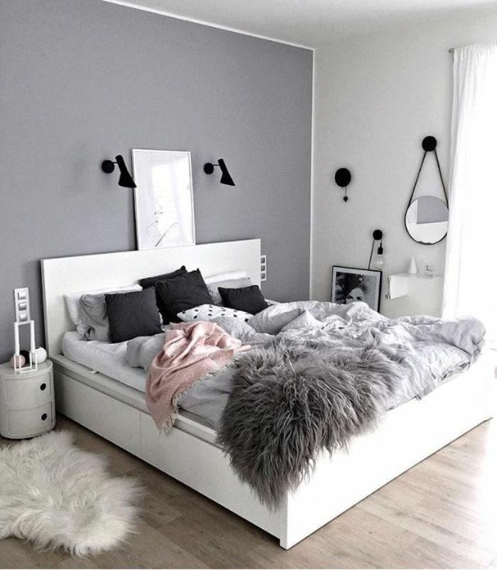 ▷ 1001 + versions stylées de chambre blanche et grise ...