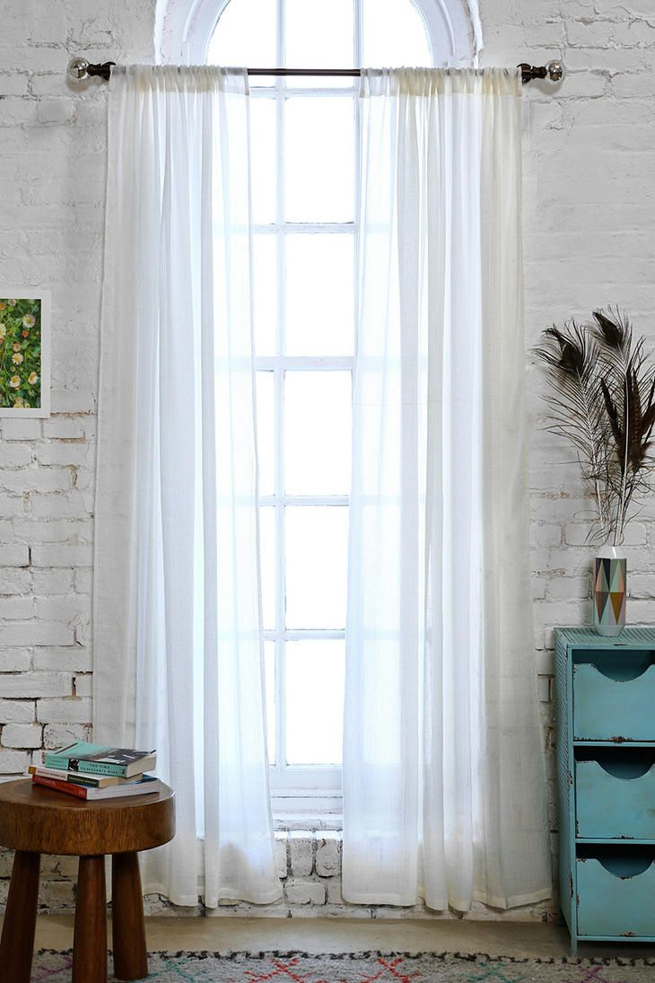 Chloe Gauze Curtain  Room Revamp  Curtains Ivory