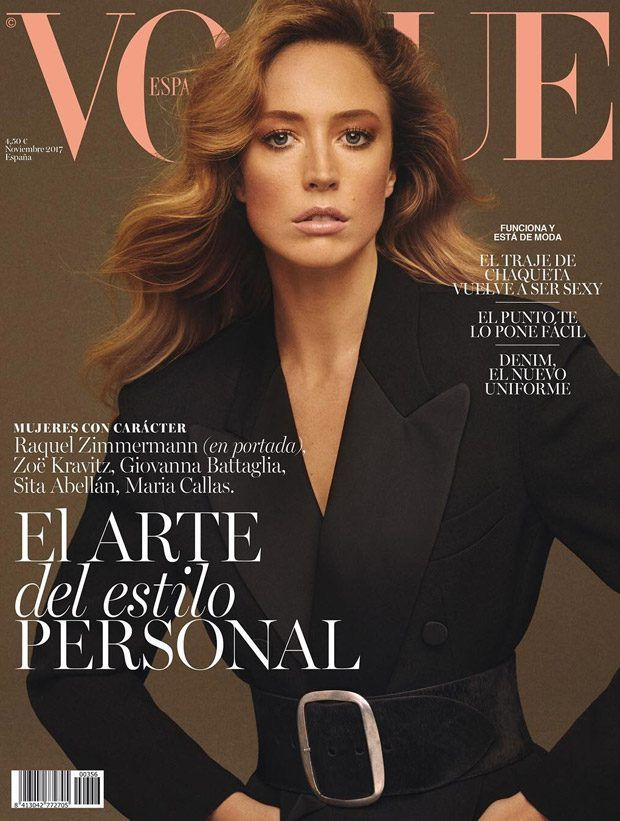 Raquel Zimmermann Stuns For The Cover Of Vogue Spain November 2017 Issue Vogue Spain Raquel Zimmermann Fashion Magazine Cover