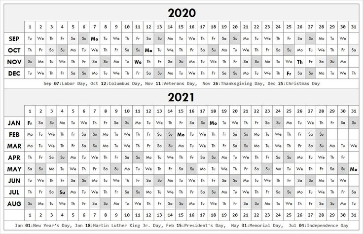 20202021 School Calendar Template in 2020 Academic