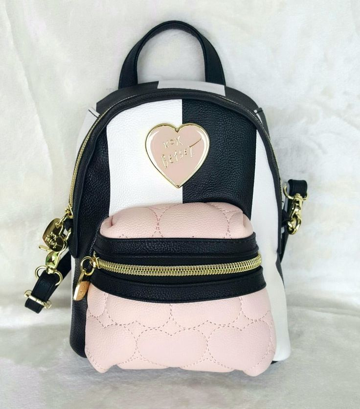 Betsey Johnson Purse MINI Convertible Crossbody Backpack style - STRIPE #BetseyJohnson #BackpackStyle