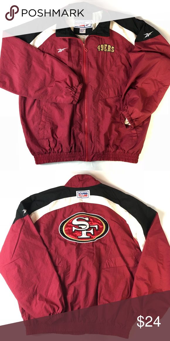 Vtg Reebok NFL ProLine San Francisco 49ers Jacket Great pre-owned condition!   Men's Sz Medium   Orders ship next business day with cleared payment thanks for your interest! Reebok Jackets & Coats Windbreakers