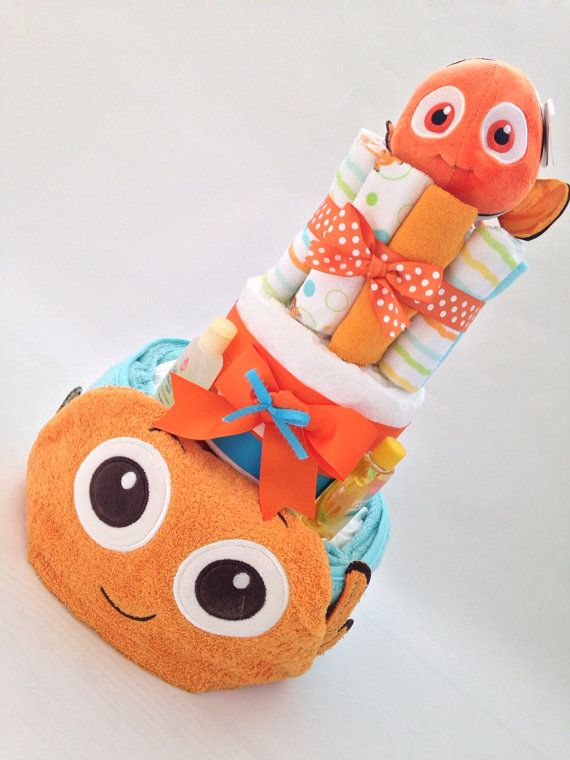 Finding Nemo Diaper Cake Nemo Baby Shower by AllDiaperCakes, $79.00