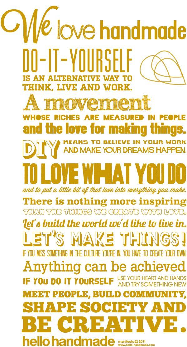 We LOVE handmade - YES!