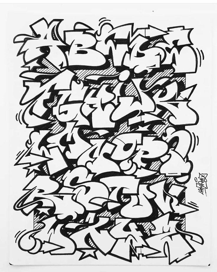 Abc_04 in 2020 Graffiti lettering alphabet, Graffiti