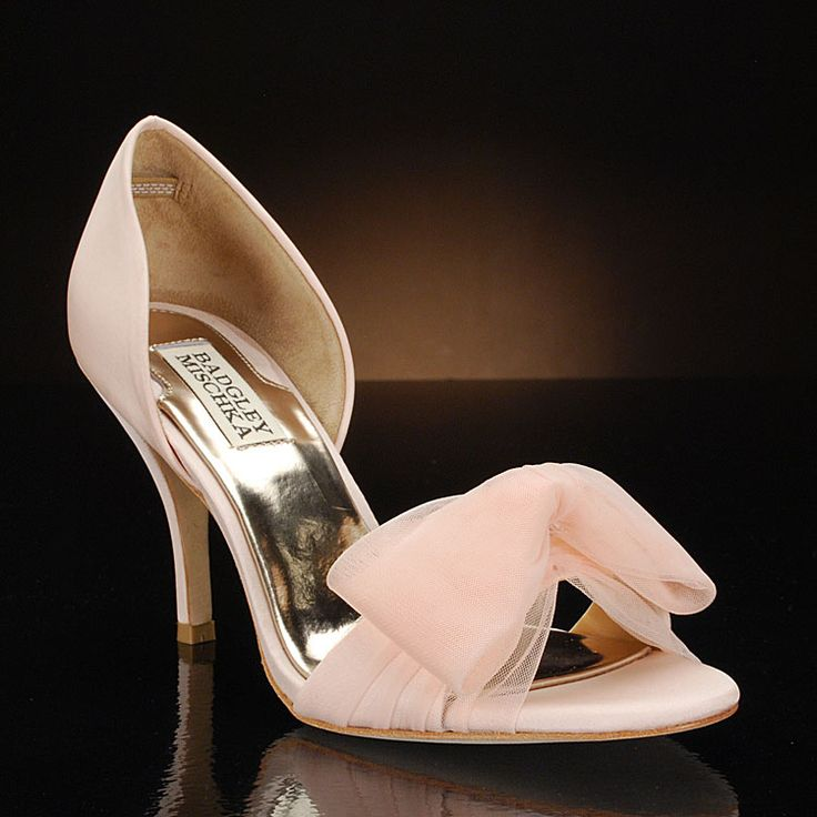 "Real Glass Slippers Wedding Shoes | Zandra"" blush wedding shoes by Badgley Mischka"