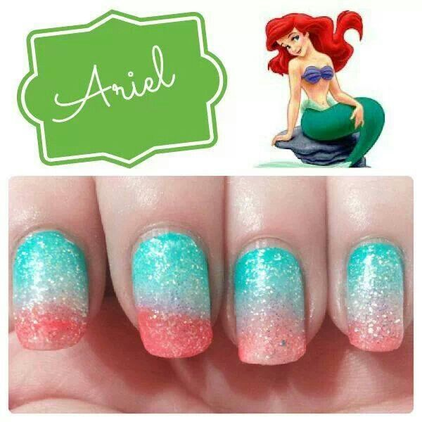 pretty little mermaid nails