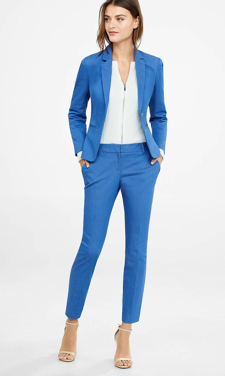 Womens Blue Suit Go Suits